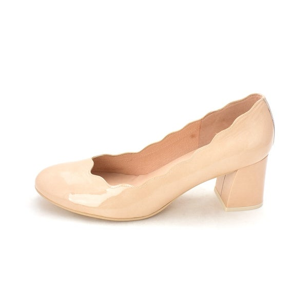 French Sole Womens Wave Leather Closed Toe Classic Pumps