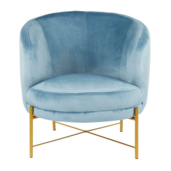 Chloe Accent Chair in Velvet & Gold Metal. Opens flyout.