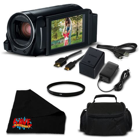 Canon VIXIA HF R82 Full HD Camcorder 1080P Video - Bundle