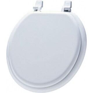 Bemis 66TT-000 Round Molded Wood Toilet Seat w/ Basic Top Tite Hinge, White