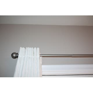 Classic Pewter Adjustable Curtain Rod Set