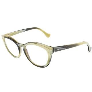Balenciaga BA5031/V 064 Yellow Black Horn Oval prescription-eyewear-frames