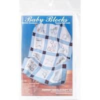 "Stamped Baby Quilt Blocks 9""X9"" 12/Pkg-Baby Cowboys"