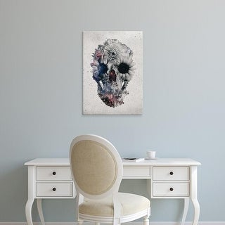 Easy Art Prints Ali Gulec's 'Floral Skull 2' Premium Canvas Art