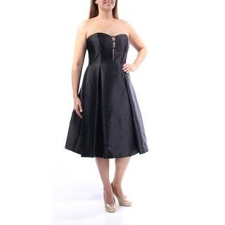 ADRIANNA PAPELL $159 Womens New 1350 Black Fit + Flare Dress 8 B+B