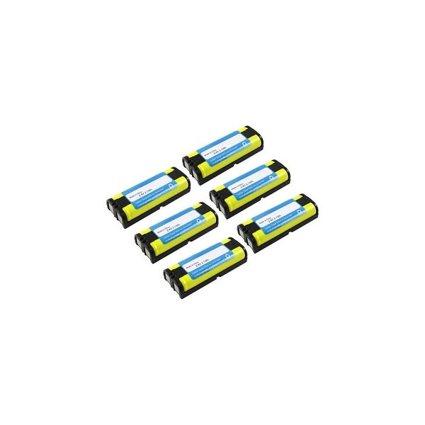Replacement For Panasonic HHR-P105 Cordless Phone Battery (830mAh, 2.4v, NiMH) - 6 Pack