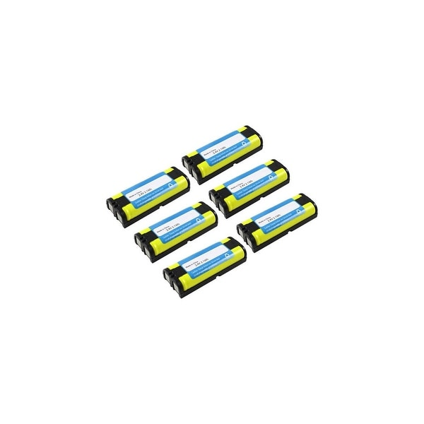 Replacement For Panasonic P105 Cordless Phone Battery (830mAh, 2.4v, NiMH) - 6 Pack