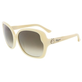 Salvatore Ferragamo SF707S 103 Ivory Oversized sunglasses