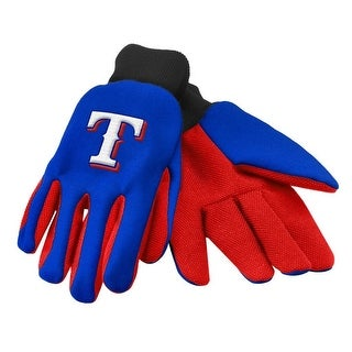 Officially Licensed MLB No Slip Gardening / Work / Utility Glove With Team Logo Baseball Texas Rangers