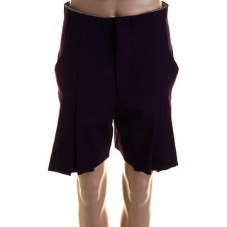 Catherine Malandrino Womens Twill Pleated Dress Shorts - 4