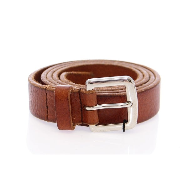Dolce & Gabbana Brown Leather Logo Belt - 90-cm-36-inches