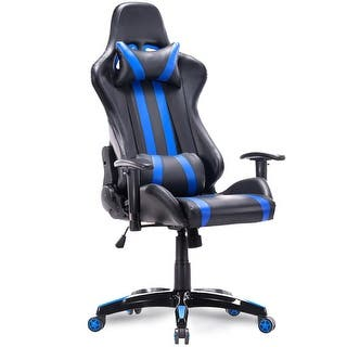 Costway Executive Racing Style High Back Reclining Chair Gaming Office Computer