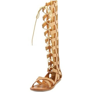 Mia Devi Open Toe Synthetic Gladiator Sandal