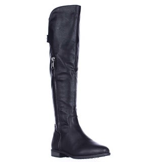 Rialto Firstrow Wide Calf Zip Up Riding Boots, Black