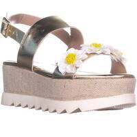 Betsey Johnson Pipper Platform Sandals, Gold
