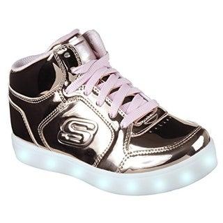 Skechers Kids Energy Lights-Dance-N-Dazzle Sneaker,Rose Gold,1 M Us Little Kid