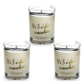Fine Bourbon Natural Soy Candle, Great Gift, Premium Wax  (3 Pack)