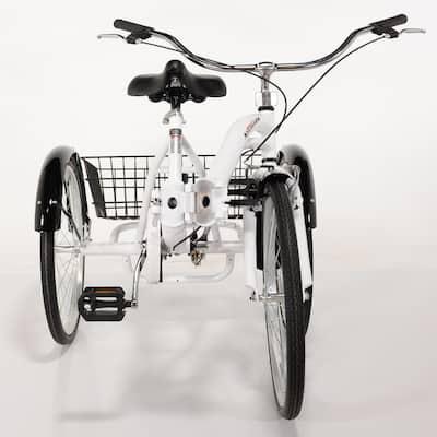 """26"""" Alameda Folding Adult Trike, White - 58.00 x 31.00 x 26.00 Inches"""