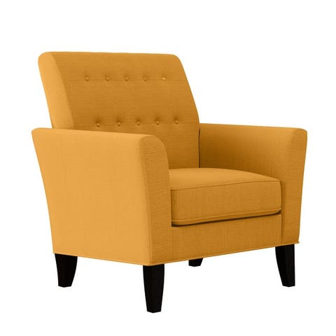 Copper Grove Larrea Button-Tufted Modern Arm Chair
