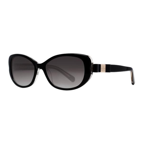 Kate Spade Chandra/S X84 Y7 Shiny Black Glitter Bow Women's Cat eye Sunglasses