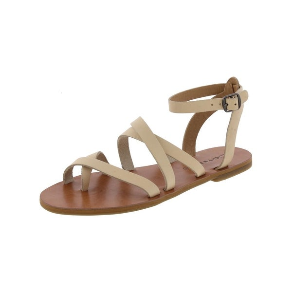 Lucky Brand Womens Aubree Flat Sandals Leather Strappy