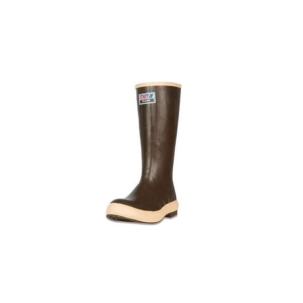 "Xtratuf Legacy Men's 15"" Plain Toe Fishing Tan Boots w/ Chevron Outsole -Size 12"