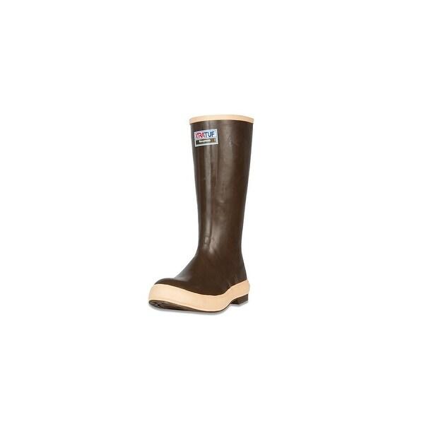 "Xtratuf Legacy Men's 15"" Plain Toe Fishing Tan Boots w/ Chevron Outsole -Size 8"