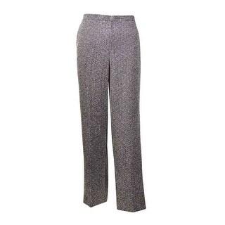 Alfred Dunner Women's Oscar Night Boucle Short Pants - BLACK/WHITE