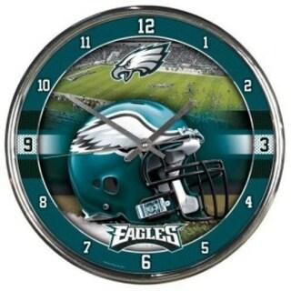 Philadelphia Eagles Round Chrome Wall Clock