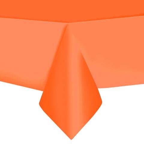 "10pcs Plastic Rectangle Tablecloth 54"" x 108"" Orange"