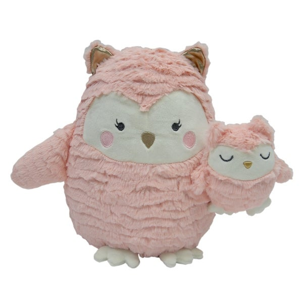 Shop Lambs Ivy Woodland Couture Pink Mommy And Baby Plush Owls