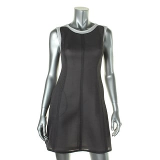 1 By O'2ND Womens Fishnet Sleeveless Wear to Work Dress - 0