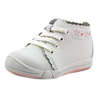Jumping Jacks Pinky W Round Toe Leather Sneakers