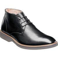 Florsheim Men's Union Plain Toe Chukka Boot Black Leather