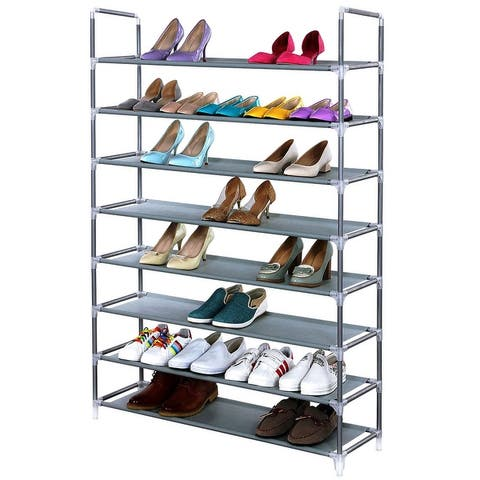 3/5/6/8/9/10-tier Extra-wide Metal/Non-woven Fabric Shoe Rack
