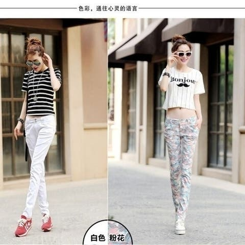 Fashion Women Cotton Harem Pants Korean Lady Was Thin Leisure Feet Tide Casual Trousers