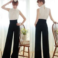 Women Sexy Fashion Casual High Waist Flare Wide Leg Long Pants Elegant Trousers