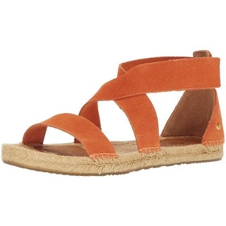 UGG Australia Womens Mila Suede Open Toe Casual Espadrille Sandals