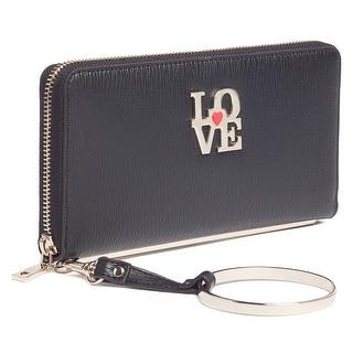 Moschino JC5511 0000 Black Zip Around Wallet - 7.5-4-1.2