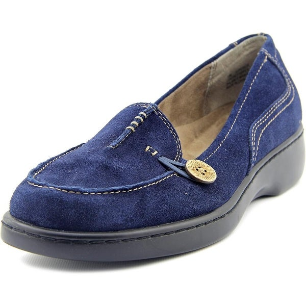 Array Superior Women N/S Moc Toe Suede Blue Loafer