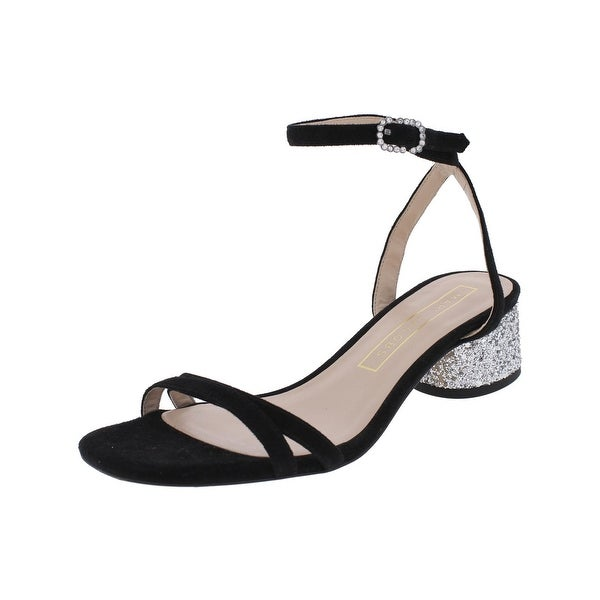 Marc Jacobs Womens Olivia Evening Sandals Suede Glitter