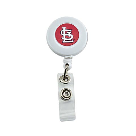 "MLB St Louis Cardinals Retractable Badge Reel Id Ticket Clip - White - 30"" retractable"
