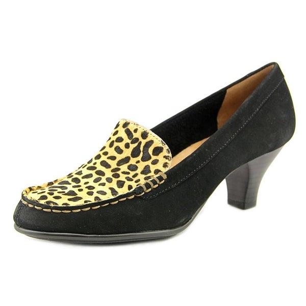 Aerosoles Wise Choice Women Round Toe Suede Black Heels