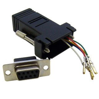 Offex Modular Adapter DB9 Female to RJ12 Jack - Black