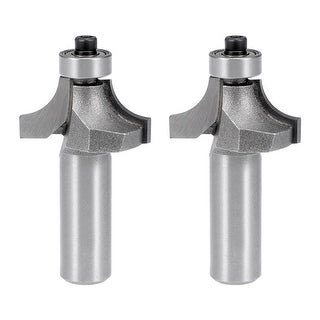 2Pcs Router Bit 1/2 Shank 3/4'' Dia Round Corner Tungsten for Milling Cutter