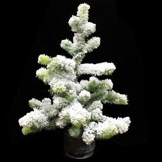 Flocked Snow Pine Tree