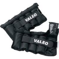 Valeo 10 lb. Adjustable Ankle/Wrist Weights, Black, Pair - 10 lb