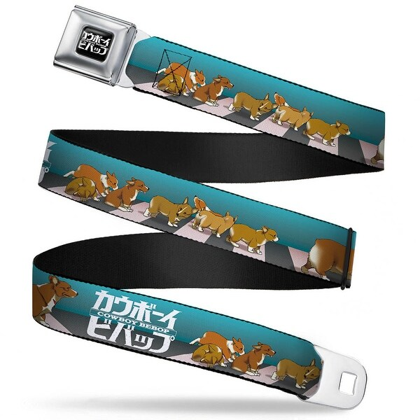 Cowboy Bebop Logo Full Color Black White Cowboy Bebop Ein W 7 Puppies Seatbelt Belt