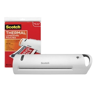 Scotch Advanced Thermal Laminator with Laminating Pouches, 13 Inch Throat