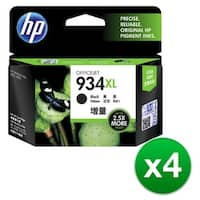HP 934XL High Yield Black Original Ink Cartridge (C2P23AN) (4-Pack)